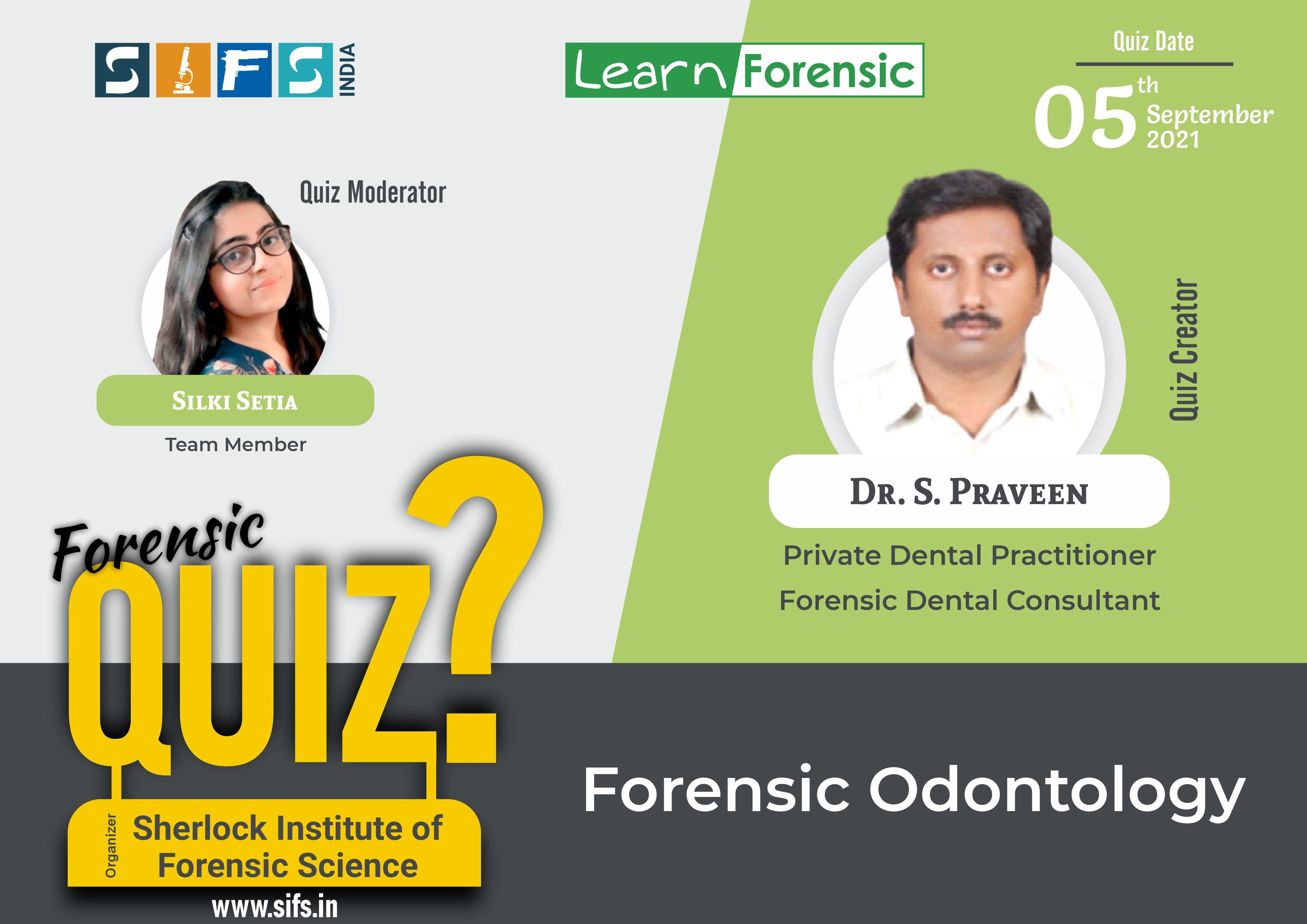 Forensic Odontology - Answers
